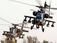 Military Helicopters Flying