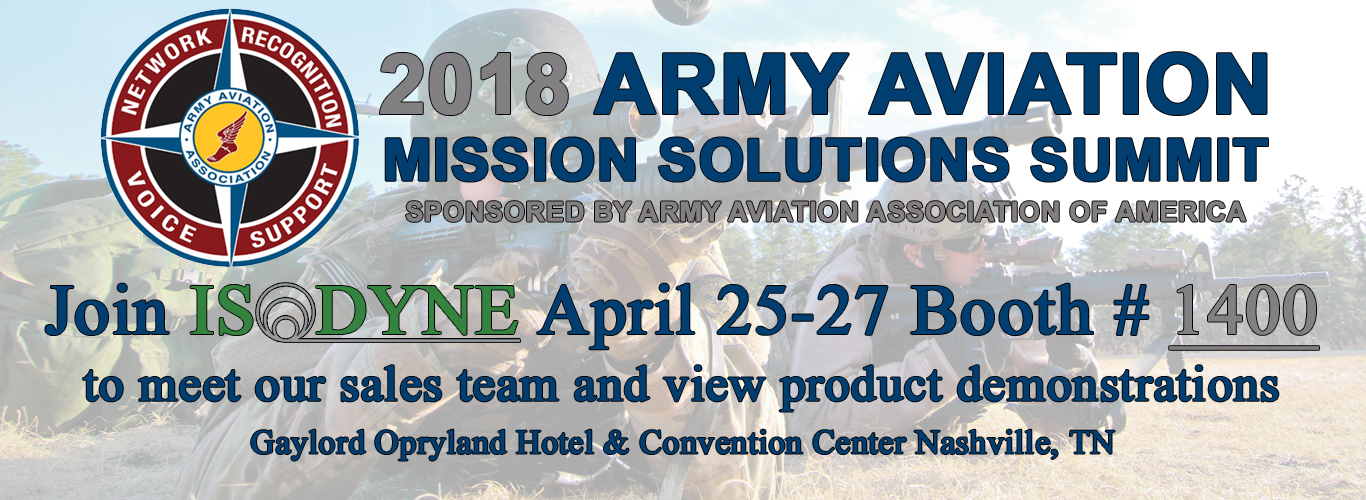 Army Aviation Mission Solutions Summit ISODYNE 2018
