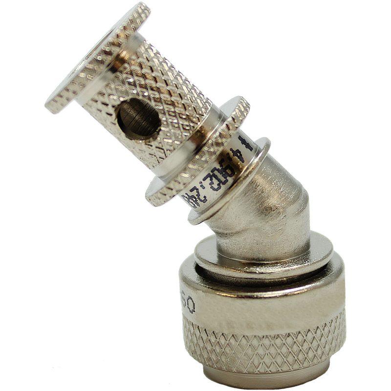 EMI Backshell-150-Series 45 Degree Nickel Teflon 1000 HRS Salt Fog