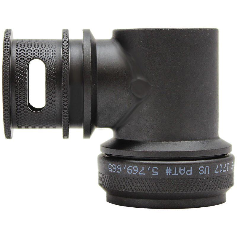 EMI Backshell 150 Series 90 Degree Black Zinc Nickel Chromate