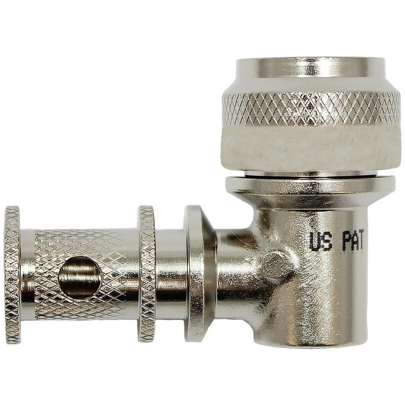 EMI Backshell-150-Series 90 Degree Nickel Teflon 1000 HRS Salt Fog