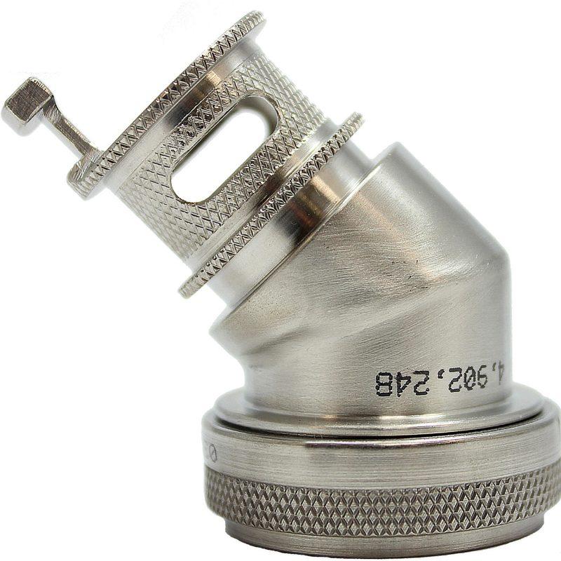EMI Backshell-155-Series 45 Degree Nickel Teflon 1000 HRS Salt Fog
