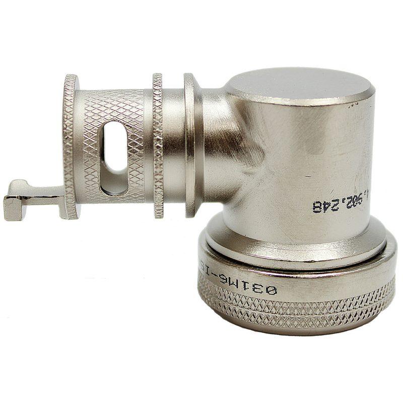 EMI Backshell-155-Series 90 Degree Nickel Teflon 1000 HRS Salt Fog